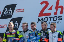 Podium : les vainqueurs Vincent Philippe, Anthony Delhalle, Etienne Masson