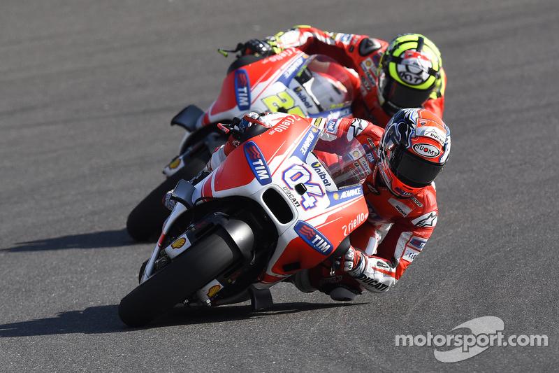 Andrea Dovizoso dan Andrea Iannone, Ducati Team