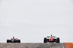 Oliver Rowland, Fortec Motorsports y Matthew Vaxivière, Lotus