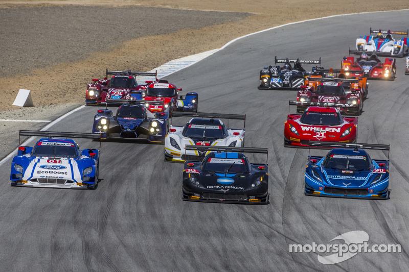 Rennstart: #10 Wayne Taylor Racing, Corvette DP: Ricky Taylor, Jordan Taylor, in Führung