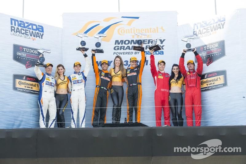 PC-Podium: 1. #11 RSR Racing, Oreca FLM09 Chevrolet: Chris Cumming, Bruno Junqueira; 2. #54 CORE aut