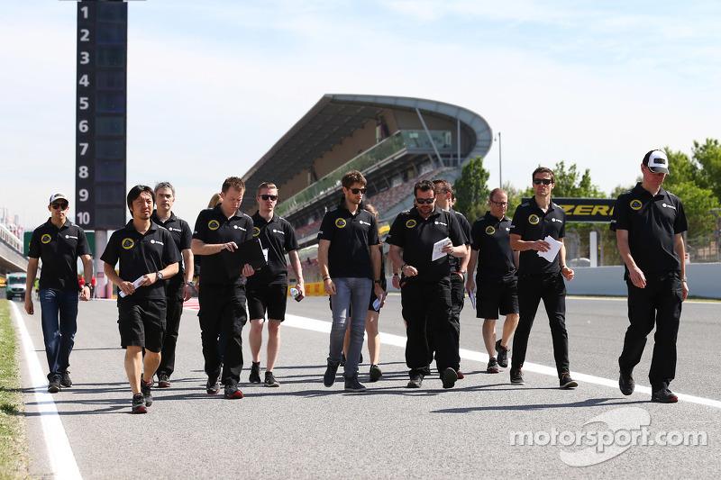 Romain Grosjean, Lotus F1 Team; Pastor Maldonado, Lotus F1 Team, und Jolyon Palmer, Lotus F1 Team, T