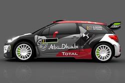 Farbdesign für Khalid Al-Qassimi und Chris Patterson, Citroën DS3, Citroën World Rally Team