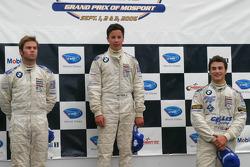 The podium: Reed Stevens, Matt Lee and Adrien Herberts