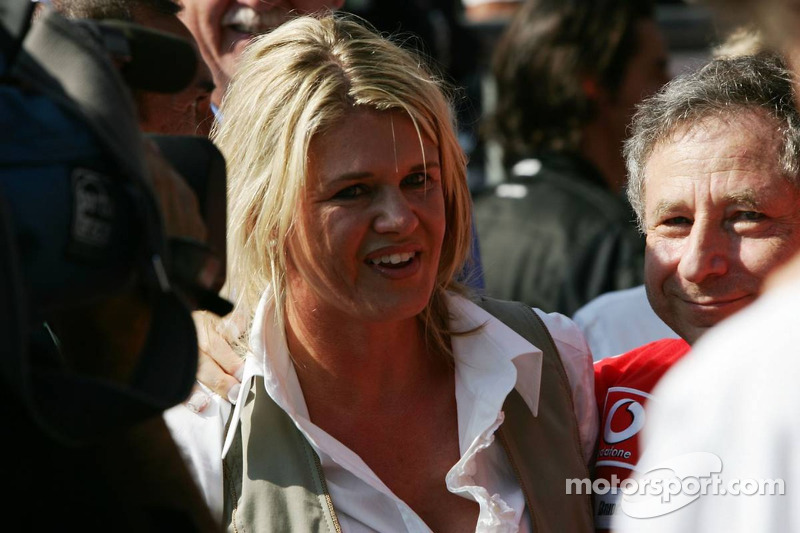 Corina Schumacher and Jean Todt