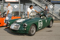 Joe Tierno and crew chief with his 1957 MGA