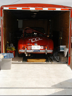 The broken 1962 MGA owned by Richard Powers