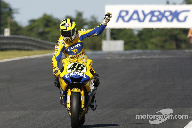 Valentino Rossi se lleva el segundo lugar