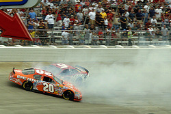 Tony Stewart and Kasey Kahne tangle