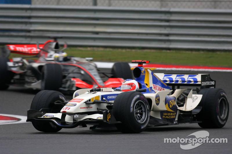 Rubens Barrichello lidera a Pedro de la Rosa