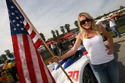 The Dyson flag girl
