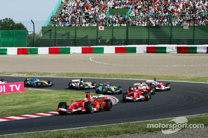 Départ : Felipe Massa devance Michael Schumacher