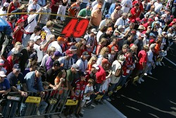 Fans watch as the starting grid is taking shape