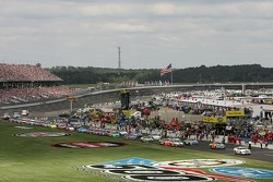The starting grid heads to pace laps