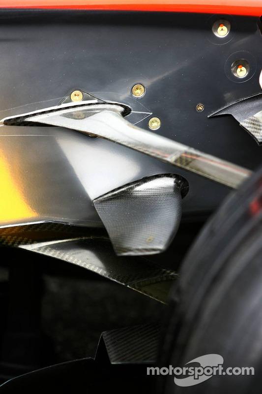 Detail of the McLaren Mercedes MP4-21