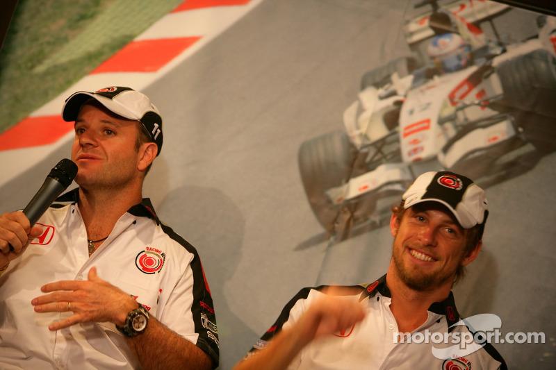 Jour des RP Lucky Strike : Rubens Barrichello et Jenson Button