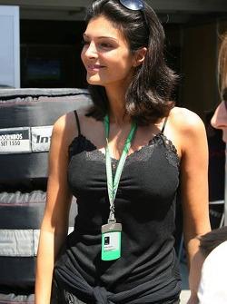 Karen Minier, petite amie de David Coulthard