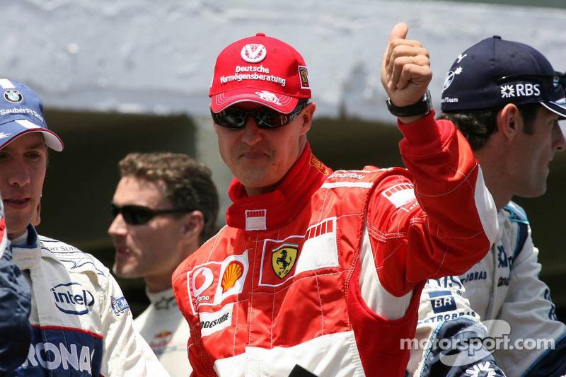 Die letzte Fahrerparade als Ferrari-Pilot