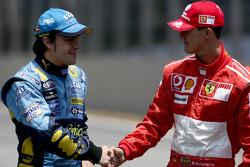 Fernando Alonso et Michael Schumacher