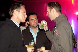 Team manager Jonathan Wheatley, Rodi Basso and race engineer Mark Hutcheson