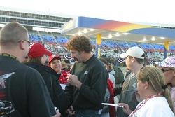 Boris Said signs autographs for the fans
