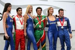 Top 3 finishers of race 1: Adrian Zaugg, Salvador Duranand Nicolas Lapierre