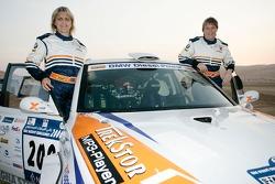 Jutta Kleinschmidt y Tina Thorner