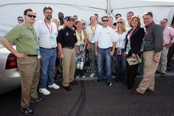 Greg Biffle and Kasey Kahne stand with political representatives from Washington State
