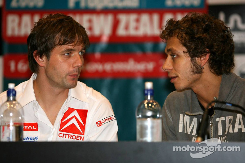 Sébastien Loeb und Valentino Rossi