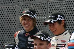 F3 drivers photoshoot: Sebastian Vettel, Kamui Kobayashi