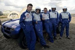 Volkswagen Motorsport test at Strandkai Beach Resort, Hamburg: Dirk von Zitzewitz, Elena Uhlig, Giniel de Villiers, Kai Wiesinger, Mark Keller