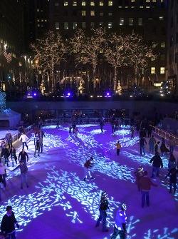 Skating ring at Rockefeller Center