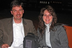 NASCAR Champions in New York: NASCAR Dodge Weekly Series national champion Philip Morris and his wife, Donna, at Del Posto restaurant in New York