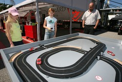 Young fans play slotcars