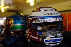 Rick Kelly and Garth Tander's helmets