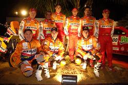 Team Repsol presentation in Barcelona: Team Repsol drivers and co-drivers