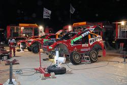 Team Repsol Mitsubishi Ralliart bivouac