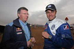 Volkswagen Motorsport engineer Jean-Claude Vaucard and Giniel de Villiers