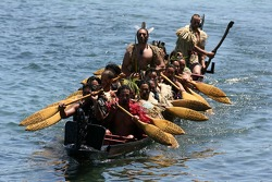 The Maori's arrive to welcome A1GP