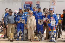 Bike category podium: Team KTM celebrates