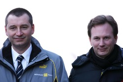 Rob White, Depute MD Engine Development Renault F1, Christian Horner, Red Bull Racing, Sporting Director