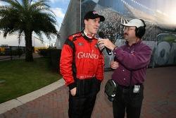 Interview for pole winner Alex Gurney