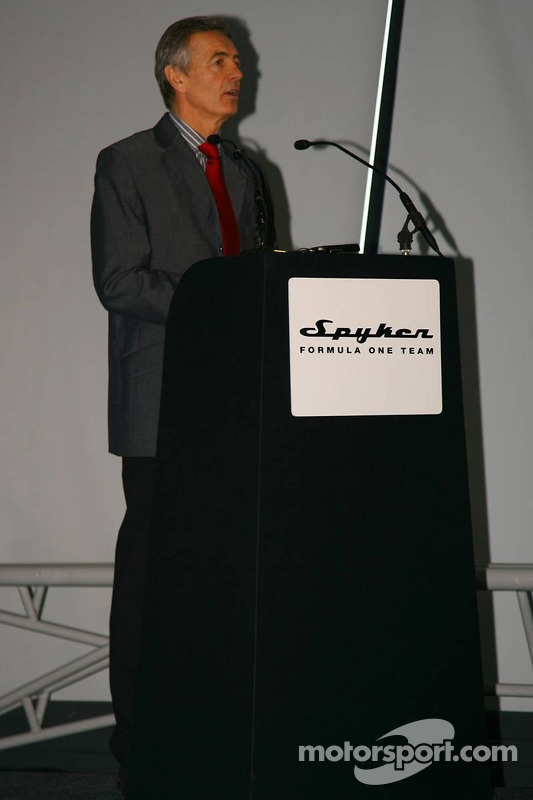 Tony Jardine, official speaker at the launch