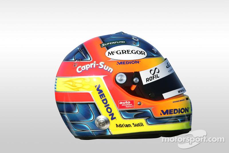 Helmet of Adrian Sutil