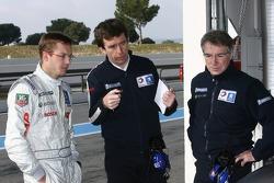 Sébastien Bourdais, Bruno Famin and Michel Barge