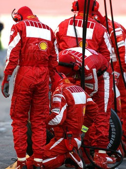 Scuderia Ferrari crew members