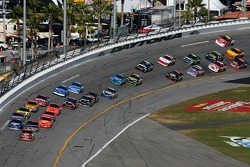 First lap: David Gilliland leads the field