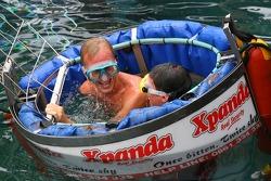 Karl Reindler and Alan van der Merwe at the Ushaka Marine World