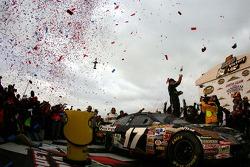 Victory lane: race winner Matt Kenseth celebrates