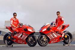 Ducati Corse: Loris Capirossi and Casey Stoner